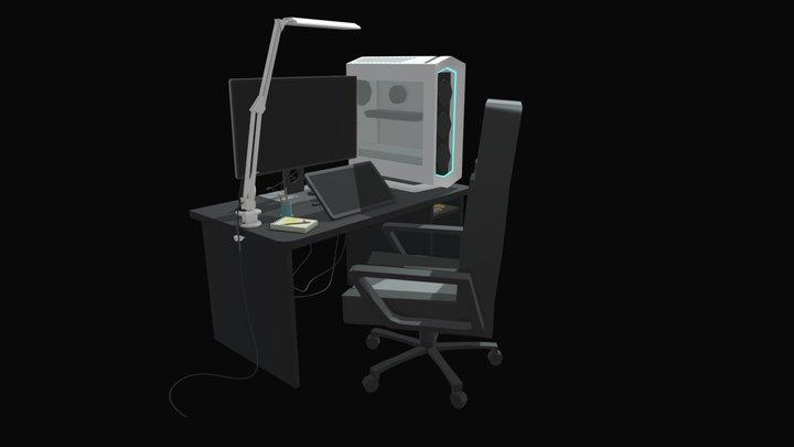 10 Item In Room 3D Model