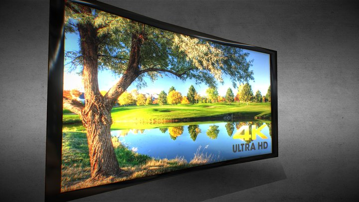 Game Ready UHD Curved TV 3D Model