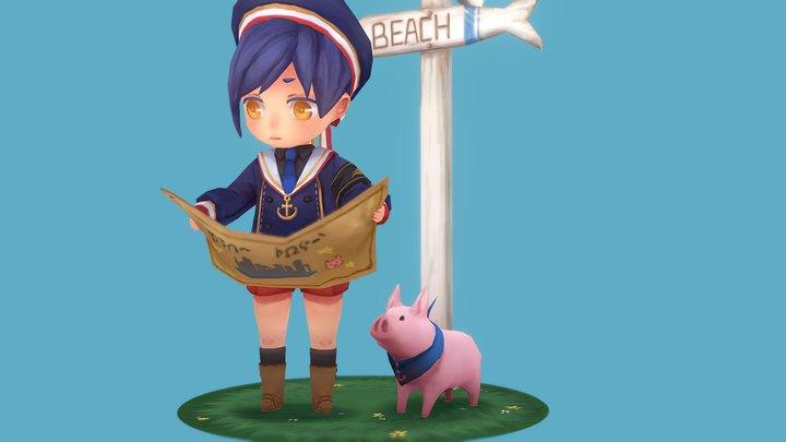 Lost Sailor Boy 3D Model