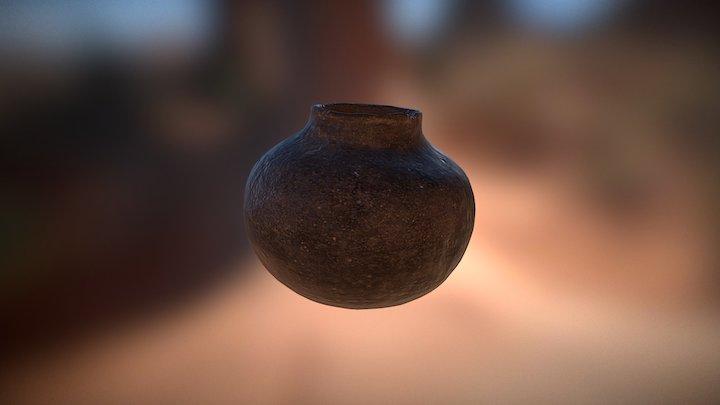 Clay Pot Low 3D Model