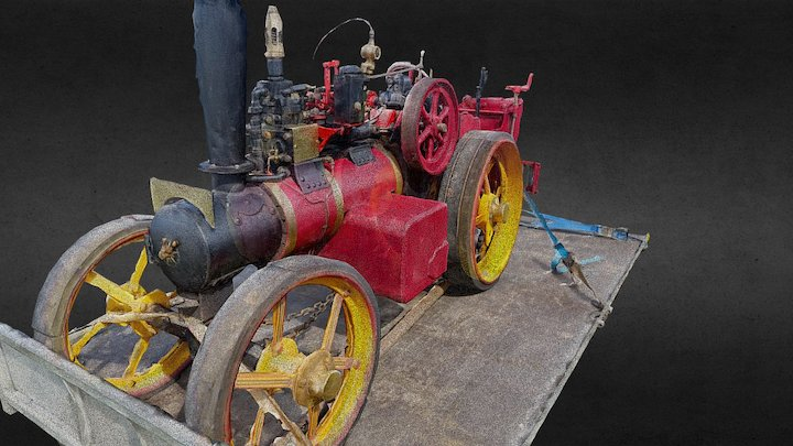 Traction Engine - Vintage Engineering 3D Model