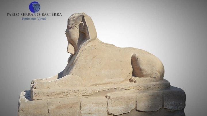 Esfinge en el templo de Amon-Ra en Luxor 3D Model