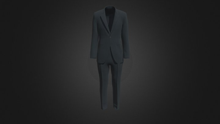 Men's Setup (Striped) 3D Model