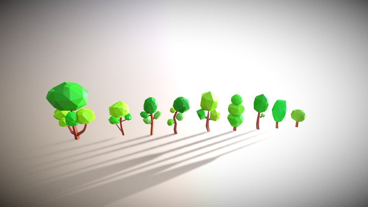 Low Poly Tree Pack 3D Model