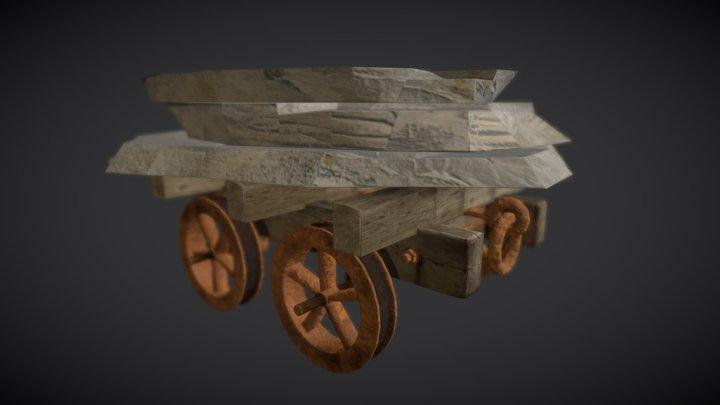 Llechwedd Mine Cart 3D Model