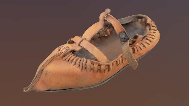 Traditional Bulgarian Shoe 18-19th century 3D Model