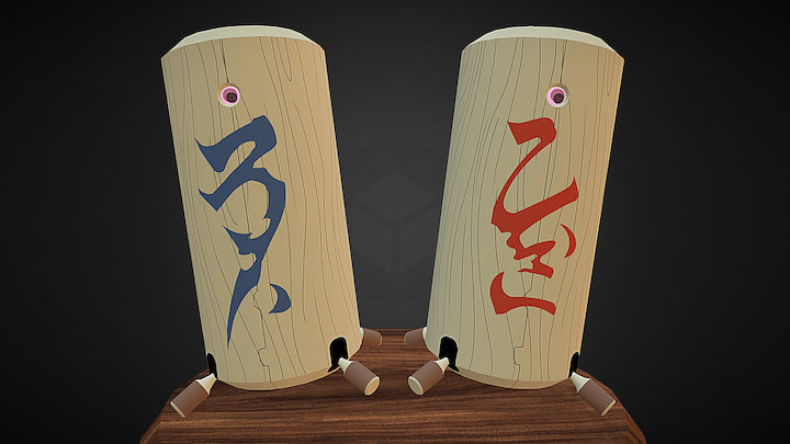 Azaka and Kamidake (Tenchi Muyo) 3D Model