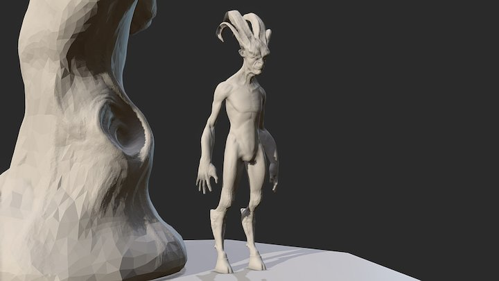 satyr - sculpted 3D Model