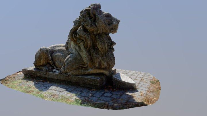 Ópusztaszeri oroszlán szobor 3D Model