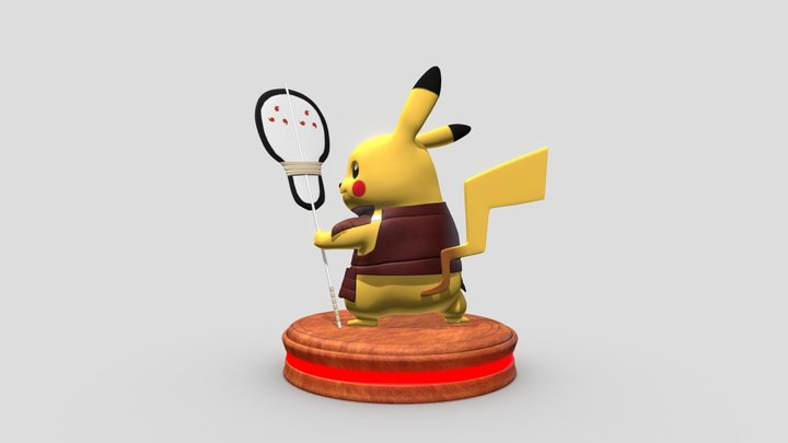 Pikachu Uchiha 3D Model