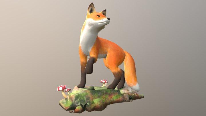 Forest Fox 3D Model