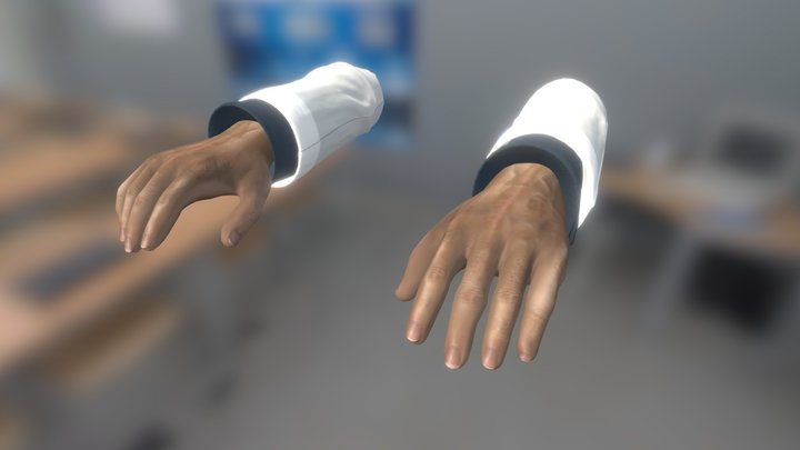 Scientist Hands for Black Mesa 3D Model