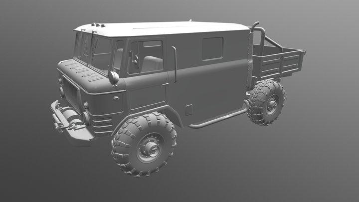 Газ -66 3D Model