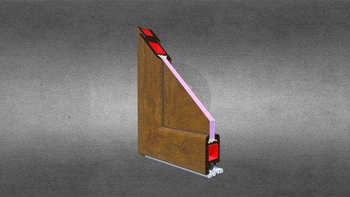 Drzwi PVC - Panel 24mm - Złoty Dąb 3D Model