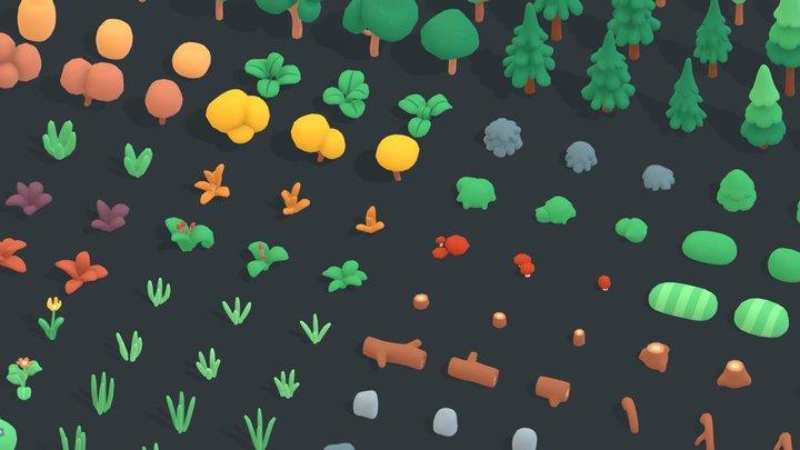 Nature Forest - Animation Assets 3D Model