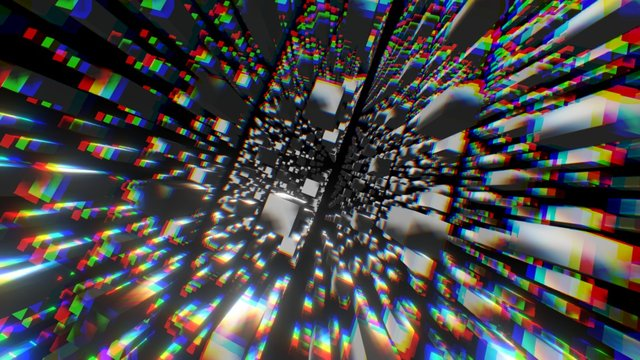 3D Cube Spiral for a 1st Person VR Experience 3D Model