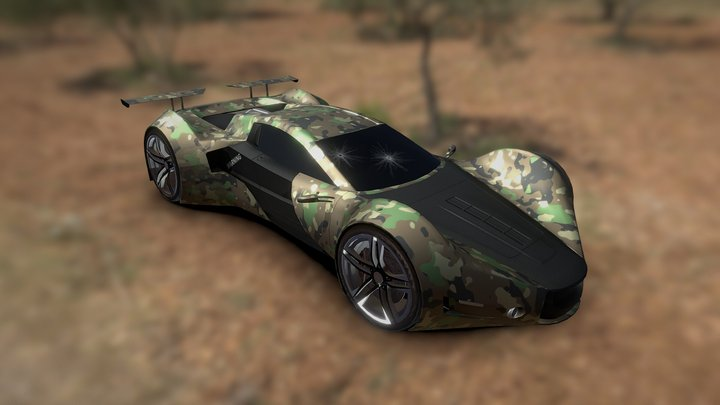 Ferrari (Game car) 3D Model