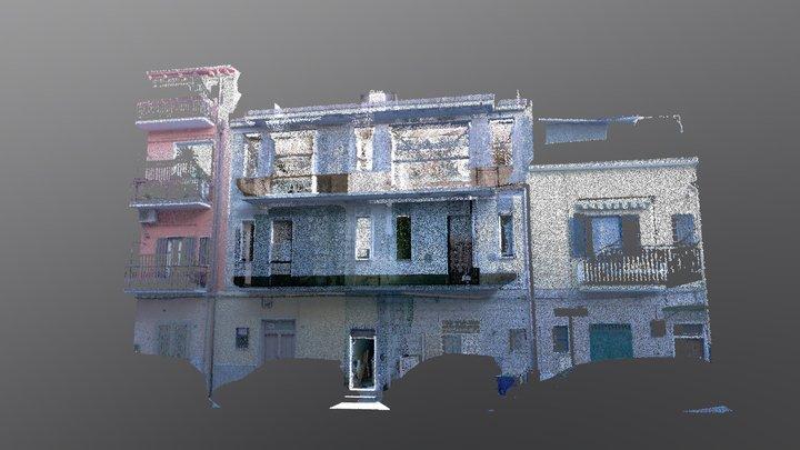 Casa in linea in cantiere 3D Model