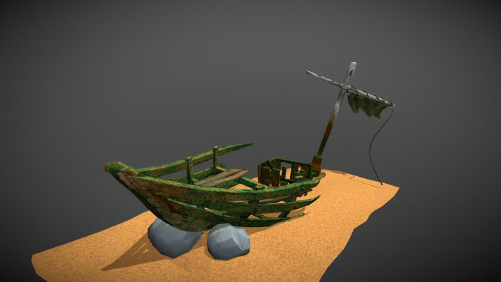 shipwreck low poly 3D Model