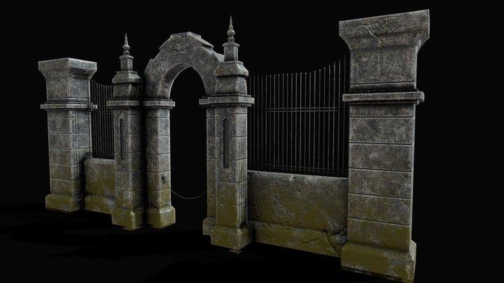 Cemetery Gateway 3D Model