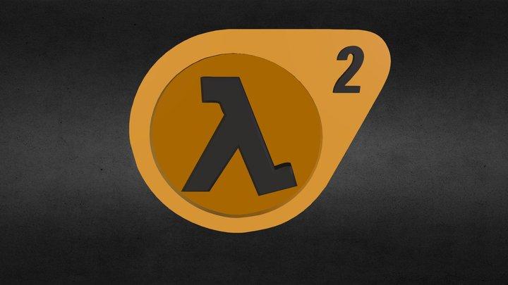 Half Life 2 Logo 3D Model