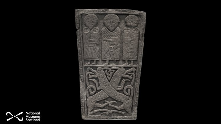 Pictish Cross Slab from Invergowrie Church 3D Model