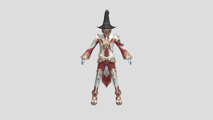 Lineage 2 Wizard 3D Model