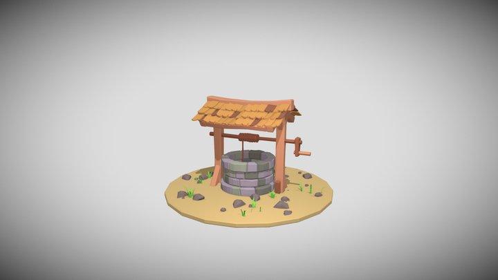 Stylized Water Well 3D Model