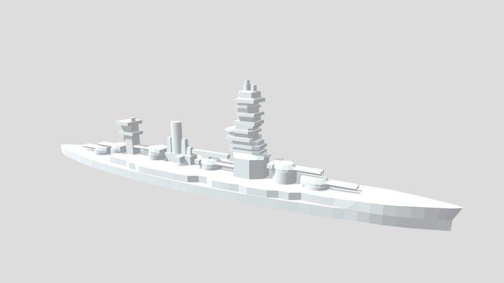 IJN Fuso - Model for 1/4000 printing 3D Model