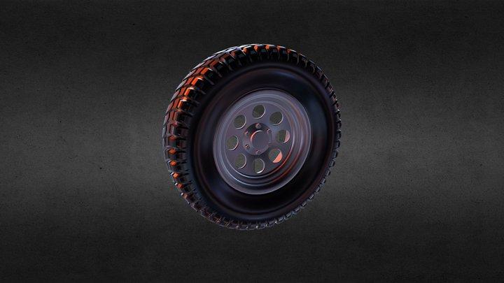 Off Road Wheel 3D Model