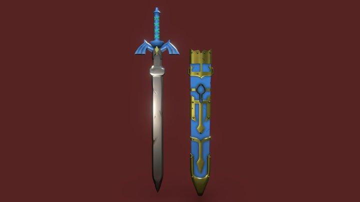 The Master Sword - Digital Sculpting 3D Model