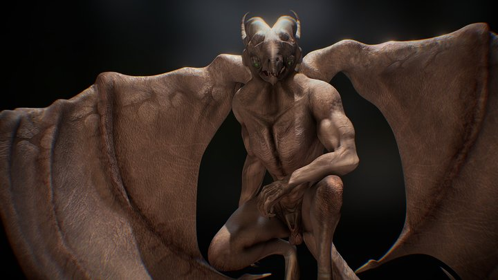 A Watchful Gargoyle 3D Model