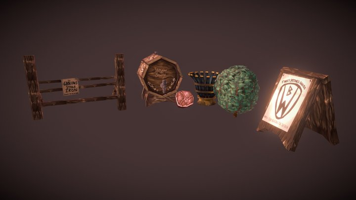 Village Props 3D Model