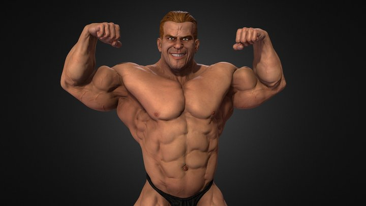 4X Mr. Olympia Jay Cutler 3D Model