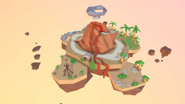 The Island low Poly 3D Model