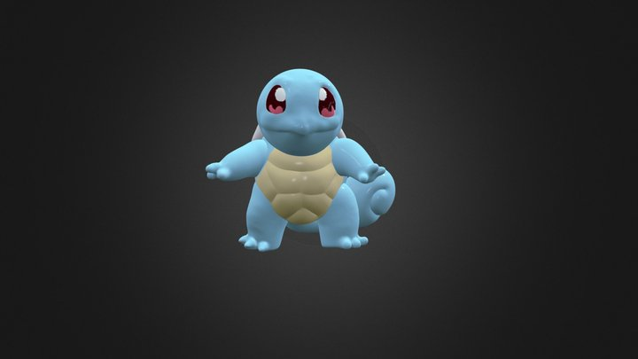 Finished Squirtle 3D Model