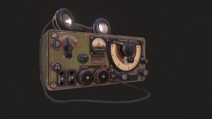 Old Soviet Radio 3D Model