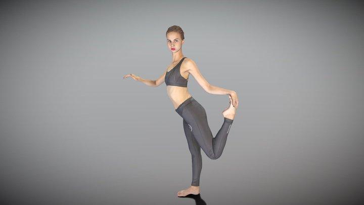 Sporty woman practising gymnastics 134 3D Model
