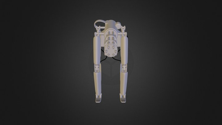 Mech AI Walking Gun 3D Model