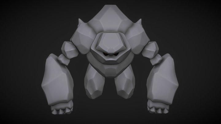 Golem, Sculpt January 2018 day 4 3D Model