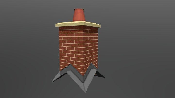 Tri- Ridge Chimney 3D Model