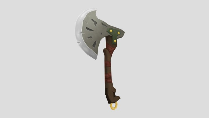 Battle Axe 3D Model