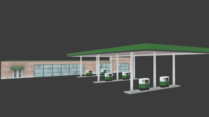 Gas Station 3D Model