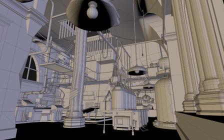 Modeling interior tower 3D Model