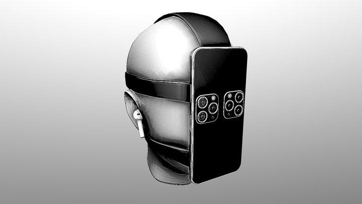 Eye-Phone - Day 2 #3DInktober2019-Mindless 3D Model