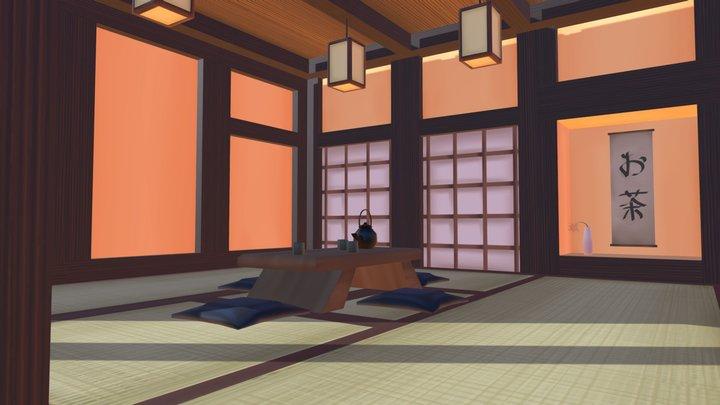 Environment: Traditional Japanese Tea Room 3D Model