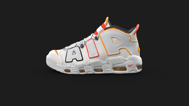 Nike Air More Uptempo 'Rosewell Raygun' 3D Model