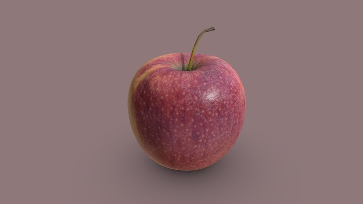 Delicious Red Apple 3D Model
