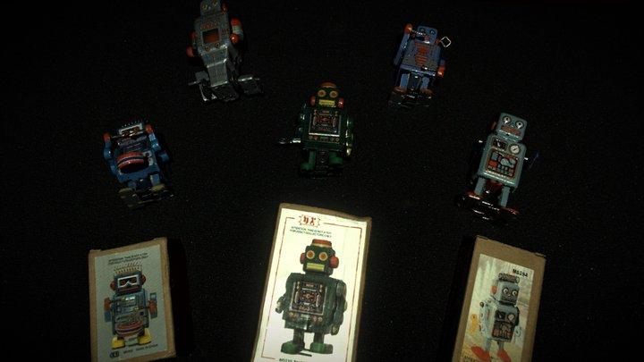 Retro Robot Toys 3D Model