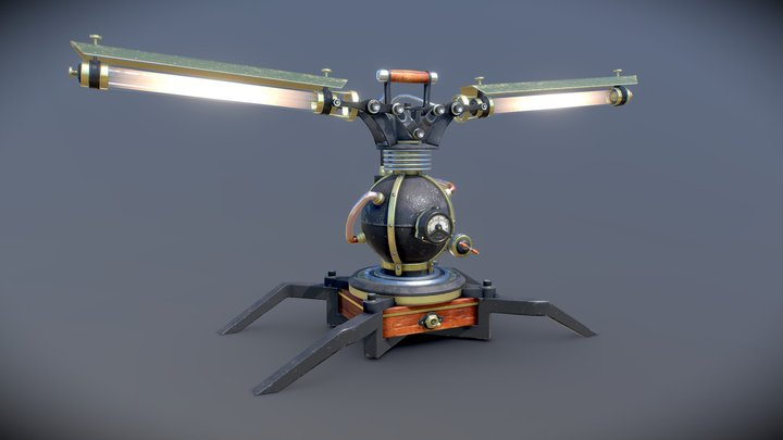 SteamLamp 3D Model